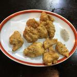 餃麺 しら石 - 白肉の天ぷら〜(*^▽^*)❤️