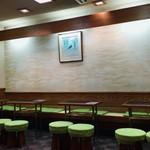 銀座 若松 - 店内 平日夜はとても空いています