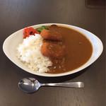 カレーの赤田屋 - 牛スジカレー ラージ400g カニクリームコロッケ¥170