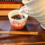 蕎麦見世のあみ - 二色蕎麦と桜海老かき揚げ御膳(蕎麦湯)