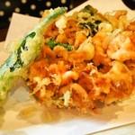 蕎麦見世のあみ - 二色蕎麦と桜海老かき揚げ御膳(桜海老かき揚げ)
