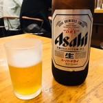 餃子工房ゆうき屋 - ビール大瓶(630円)