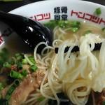 豚骨食堂 - 麺 アップ!
