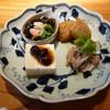鎌倉 松原庵 欅 - 料理写真:前菜:鴨ロースの柚子胡椒和え等