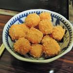 お好み焼き 拓 - カリカリチーズ?