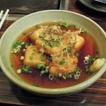 お好み焼き 拓 - 揚げ出汁豆腐