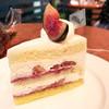 ラ・ピエスモンテ - 料理写真:イチヂクのショートケーキ