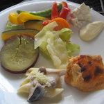 ホテルニューオータニ幕張 ザ・ラウンジ - スチーム野菜おいしーです