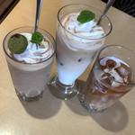 たまごカフェ - フローズンフレイバー(チョコ)       アイスカフェオレ、アイスコーヒー、