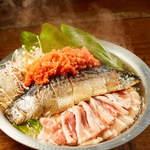 宮崎県日南市 塚田農場 - 豚バラ鯖明太鍋
