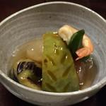 旅籠屋 丸一 - 煮物 地元野菜の炊き合わせ