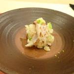 鮨 そえ島 - ◆カマス飯・・カマスは酢で〆、三つ葉・ごま・シャリなどとあわされています。