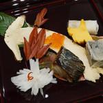 松茸屋 銀座 魚松 - 松茸八寸