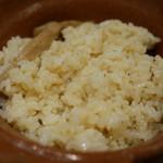 松茸屋 銀座 魚松 - 松茸ご飯
