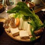 しゃぶ亭脇阪 - 野菜など