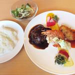 洋食彩酒 アンプリュス - ランチのアンプリュスセット。この他にドリンク付(税別1480円)