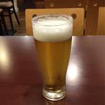 越後秘蔵麺 無尽蔵  - 生ビール 中♪