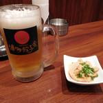 74682038 - 生ビール&お通し