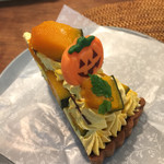 ラ・メゾン アンソレイユターブル パティスリー ルミネ荻窪店 - ハロウィンシーズン限定 かぼちゃのタルト