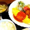 Tsuretettei - 料理写真:黒豚ヘレひとくちカツとチーズオムレツの盛り合わせ【平日10食限定日替りランチ】/御飯、味噌汁、サラダ、漬物付き