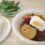 cafe やお亭 - 定食「秋のハンバーグシチュー」