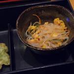 74686259 - 【ランチ】 若鶏マヨネーズ焼き きす磯辺天ぷら \800