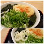 因幡うどん - ◆お葱もタップリ盛ってみたり・・ やわ麺ですのであまり好みではないのですが、天ぷらが溶けた出汁が美味しい。