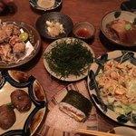 琉球島料理 田芋 - どの料理も本当に本当においしかったです!左下が田芋さんの推しで注文した田芋のコロッケ?です。おいしかったです!