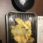 京都 錦 天ぷら酒場 たね七 - 天ぷら五種盛り合せ