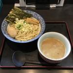 74688973 - 奥原流つけ麺 ごま味噌ダレ + 味付玉子