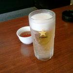 三希房 - 生ビール460円税別です。税込で、483円です。