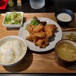 四川中華 煌炎 - 料理写真:鶏の唐揚げセット(750円)