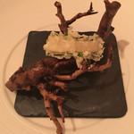 レストラン・モリエール - ほたてと大葉の天ぷら