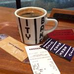 74696492 - 「レッドアイ」(Mサイズ、税込475円)。レッドアイ=レギュラーコーヒー+エスプレッソ。