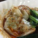 麺屋遊膳 - 四川水餃子は山椒が効いていい痺れ感❤️