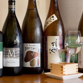 旬の日本酒を揃えています