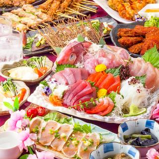 肉に魚と堪能!旬素材を贅沢に彩るご宴会プランは2980円より