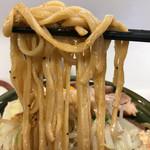 ハイパーファットン - 【2017.10.8】村上朝日製麺の中太麺。