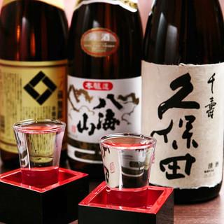 九州料理にピッタリ!全国の名立たる蔵元から厳選された銘酒。