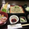 徳兵衛 - 料理写真:天ざるそばミニ海鮮丼セット