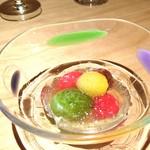 ファンクラブ - 料理写真:彩りトマトの土佐酢ジュレかけ