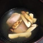 傳 - 松茸と鴨のお椀