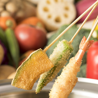 【串素材】串揚げ串天ぷら30種以上を品揃え。春宴会2778円
