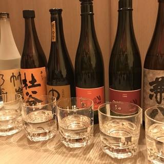 日本酒、焼酎の豊富なラインナップ!