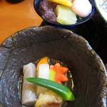 さしみ亭 和加栄 - 赤魚の焚き合せ、みつ豆