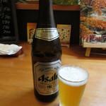 さしみ亭 和加栄 - 瓶ビール(中瓶) 600円(税別) (2017.10)
