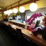 さしみ亭 和加栄 - カウンター席