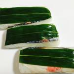 上きしや - 柿の葉の鯖寿司     やっぱり美味しい(*^_^*)