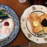 OLIVE - 料理写真:トーストセット✨大皿!
