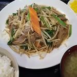 らーめん 梵天 今市店 - レバニラ炒め定食 ¥800